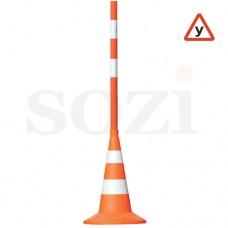 Конус с вехой для автошкол ДС8-3 (1200мм+ конус 520мм 2 светоотр. полосы)