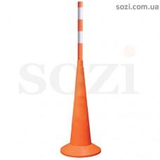 Дорожный конус с вехой ДС9-1 (1200мм+ конус 750мм без полос)
