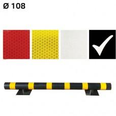 Световозвращающая наклейка для металлических колесоотбойников Ø108 - МКН-108-10 чёрная