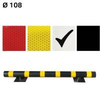 Световозвращающая наклейка для колесоотбойников Ø108 - МКН-108-10 белая