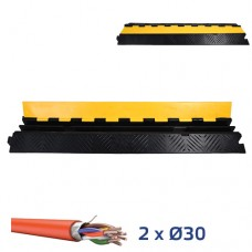 Кабель-канал резиновый напольный КАБ1-2 на 2 канала