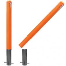 Съёмные парковочные столбики ограждения СТ-02 оранж 750 мм - низкая цена в грн, в т.ч. с НДС, доставка по Украине
