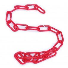 Червоний ланцюг пластиковий набірний ПЦ-03, 1м