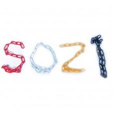 Жовтий пластиковий ланцюг набірний ПЦ-05, 1м