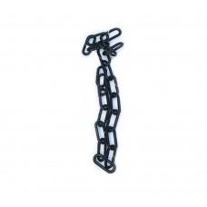 Чорний ланцюг пластиковий набірний ПЦ-06, 1м
