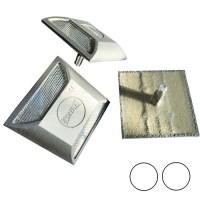 Розмічальні дорожні вставки ВРД-3 алюмінієві, білий-білий
