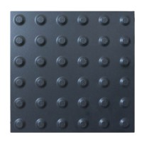 Тактильна плитка керамічна попереджувальна чорна ПТК-04 300х300