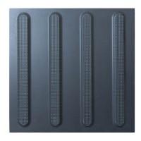 Тактильна плитка керамічна напрямна чорна ПТК-02 300х300
