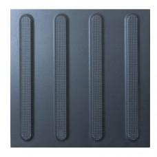 Тактильная плитка керамогранитная чёрная ПТК-02 300х300