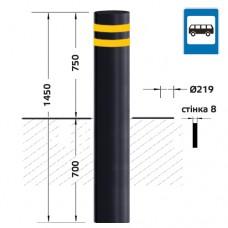Болларды СП-05-750-219-А для автобусных остановок - чёрные