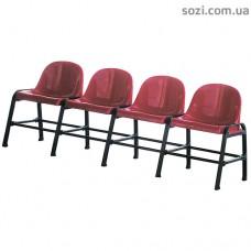 Скамья с пластиковыми сиденьями - секционные стулья СТ-04
