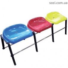 Секционные сиденья, пластиковые секционные стулья СТ-03