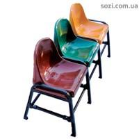 скамья с пластиковыми сиденьями - секционные стулья СТ-04 - 3