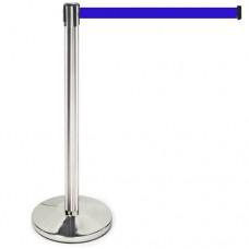 Ленточные ограждения - Стойки с вытяжными синими лентами 2,5 м по низкой цене в грн
