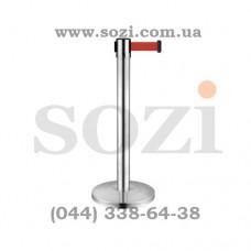 Стойка с вытяжной лентой ЛТ-03 - лента 2,5м - широкое основание, вес 10кг!
